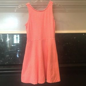 Coral and white tank dress small 6/7